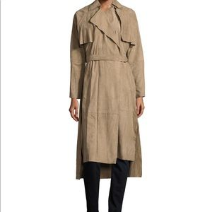 Muubaa suede trench coat